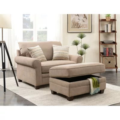 living room chair with ottoman mesh lounge footrest chairs sam s club douglas and storage