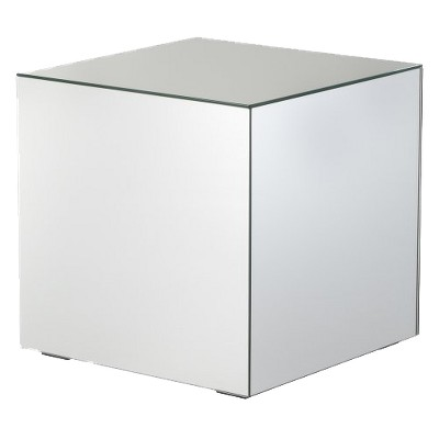 Mirrored cube living room accent side end table product details page