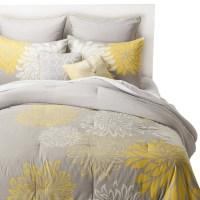 Anya 8 Piece Floral Print Bedding Set - Gray/Yellow : Target
