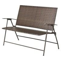 "Threshold Rolston Wicker 45"" Patio Folding Bench : Target"