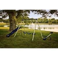 Swing Sets Wooden Metal Kids Backyard Ebay | Autos Post