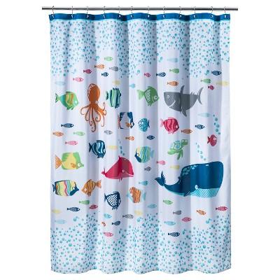 Fish Fabric Shower Curtain