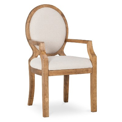 Oval Back Chair With Arms