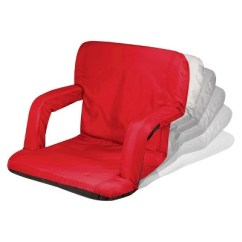 Picnic Time Folding Chair Brown Plastic Adirondack Chairs Ventura Portable Stadium Seats - Red (10.0 Lb) : Target