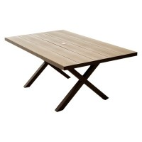 Lonsdale Faux Wood Patio Dining Table : Target