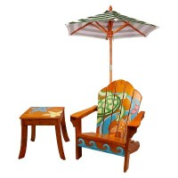 Hand Painted Sea Turtle Chair Set with Umbrella : Target