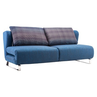 Conic sleeper sofa cowboy blue zuo product details page