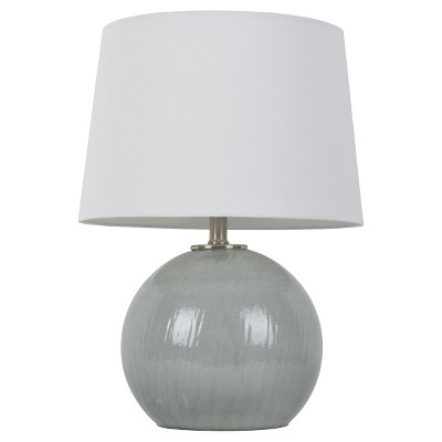 Gray Glass Globe Table Lamp