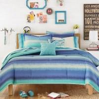 Electric Beach Comforter Set Blue - Teen Vogue   eBay