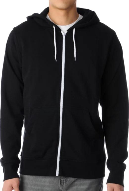 Black Hoodie Template : black, hoodie, template, Template, Black, Solid, Hoodie, Zumiez