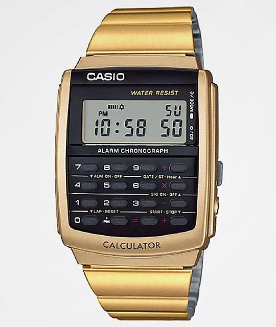 casio vintage calculator gold