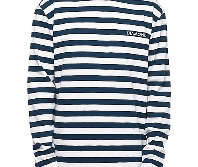 Pablo Striped Navy White Long Sleeve T Shirt