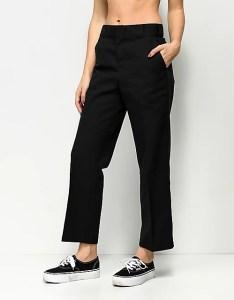Dickies crop ankle black work pants also zumiez rh