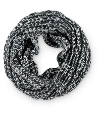 Empyre Black & White Marled Knit Infinity Scarf at Zumiez ...
