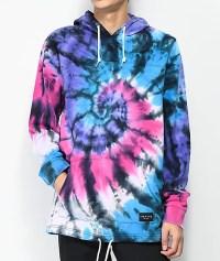 Empyre Reef Tie Dye Pink, Blue & Purple Hoodie | Zumiez.ca