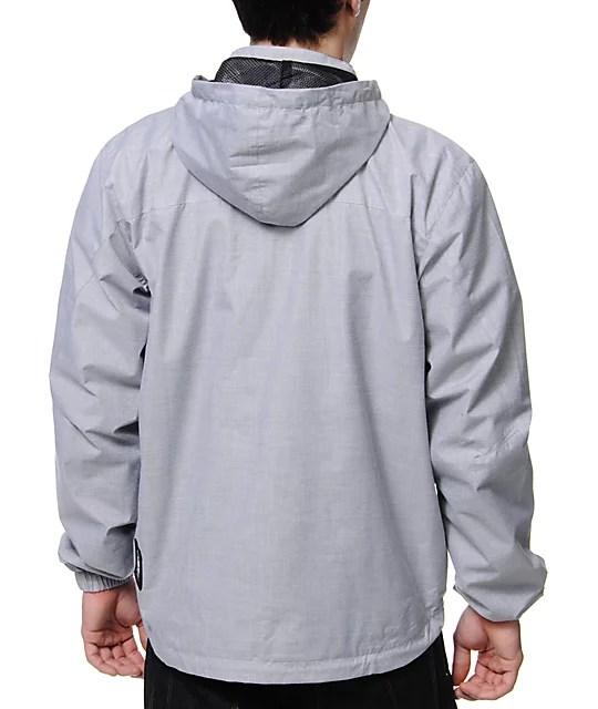 LRG CC Light Grey Windbreaker Jacket   Zumiez