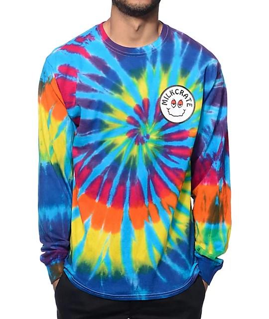 Milkcrate OG Tie Dye Long Sleeve T-Shirt | Zumiez
