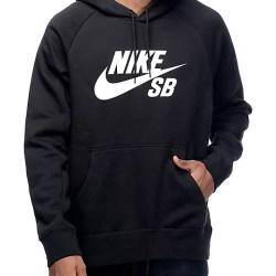 dc0df57b67e2 Nike Sb Icon Black And White Hoodie Zumiez