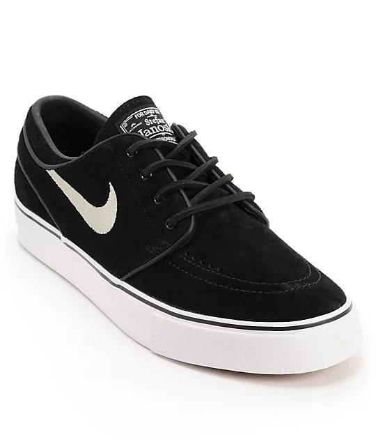 Nike SB Zoom Stefan Janoski Black Suede Shoes at Zumiez  PDP