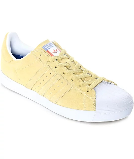 adidas Superstar Vulc ADV Pastel Yellow Shoes Zumiez