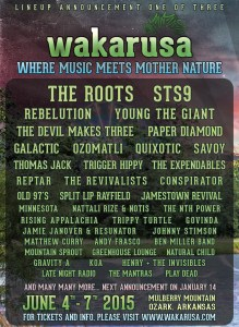 A list of just some of the performers at Wakarusa 2015.