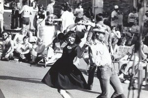 At a street dance I helped produce in Austin, early 1980s.