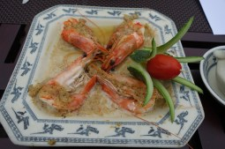 Steamed Prawns with Lemongrass and Garlic