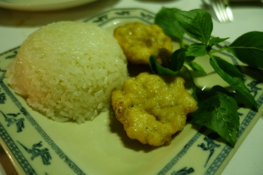 Chả Mực Fried Squid Bray Served With Sticky Rice