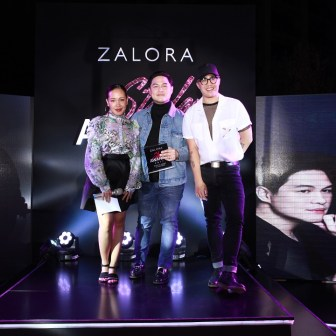 Makeup Artist of the Year Mickey See together with Kate Paras and Lord Rebueno, Head of Social Media, ZALORA Philippines