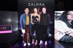 Female Style Star of the Year Lauren Reid with Vince Flores, Head of PR, ZALORA Philippines and Isha Andaya-Valles, EIC of Preview Magazine