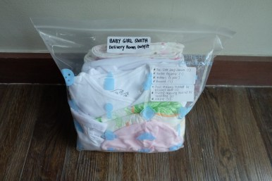 Baby's Delivery Room outfit, to be given to the nurse before I deliver