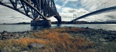 Panoramic form under both bridge - Nexus 5x (Snapseed)