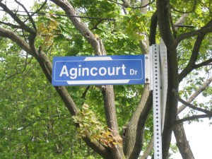 Agincourt Drive Sign