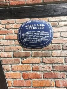10. Akers Mek. Verksted plaque