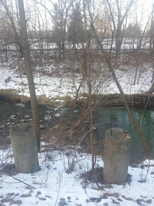 West Highland Creek bridge abutments