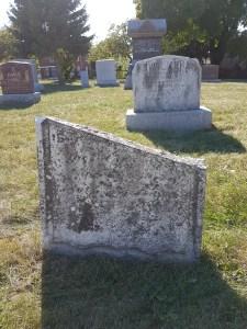 Knox Cemetery broken stone