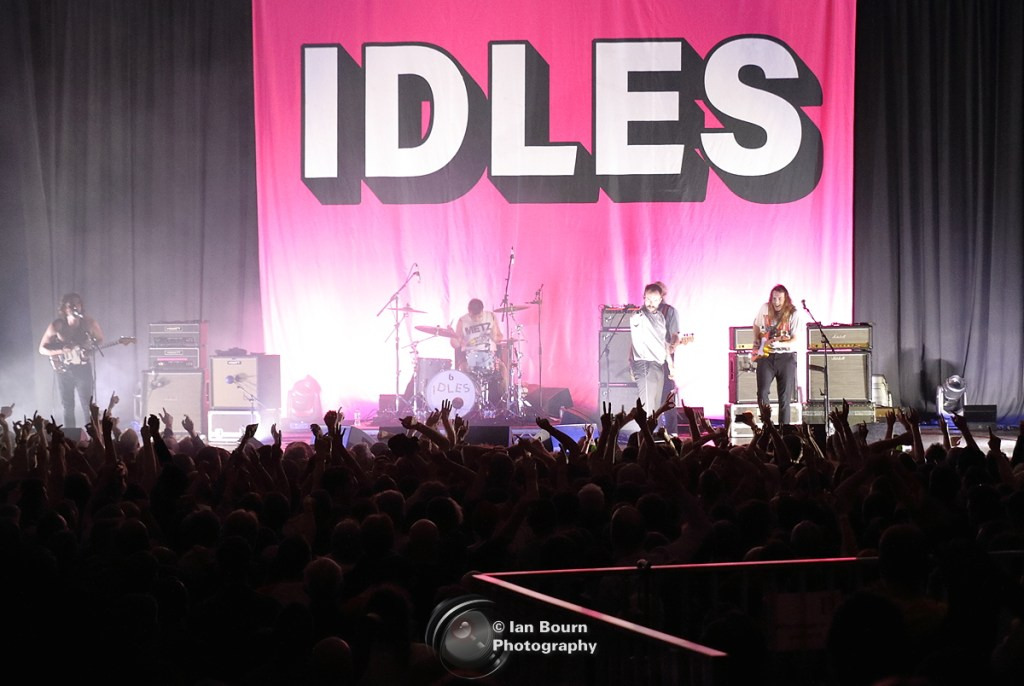 IDLES: The band and their crowd photo by Ian Bourn for Scene Sussex