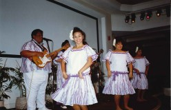 Entertainment by dancers and singers