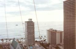 Overlooking Waikiki Beach from the Waikiki Banyon Condo