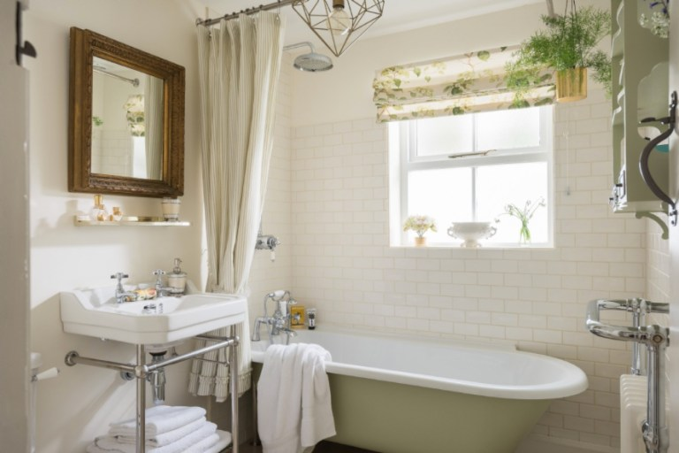 Timeless Bathroom white and green copy
