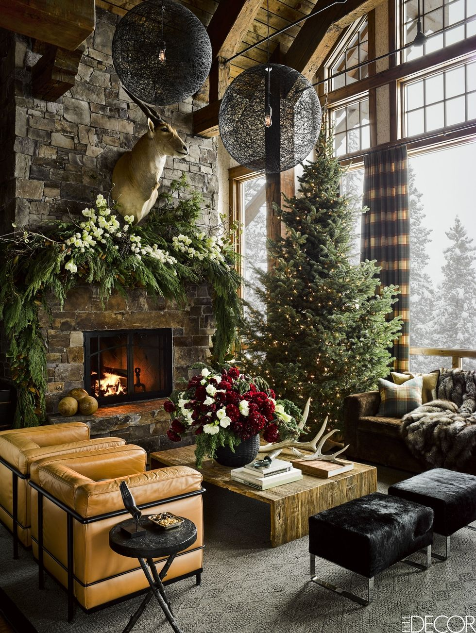 christmas decorations inspiration ski lodge montana christmas home living room