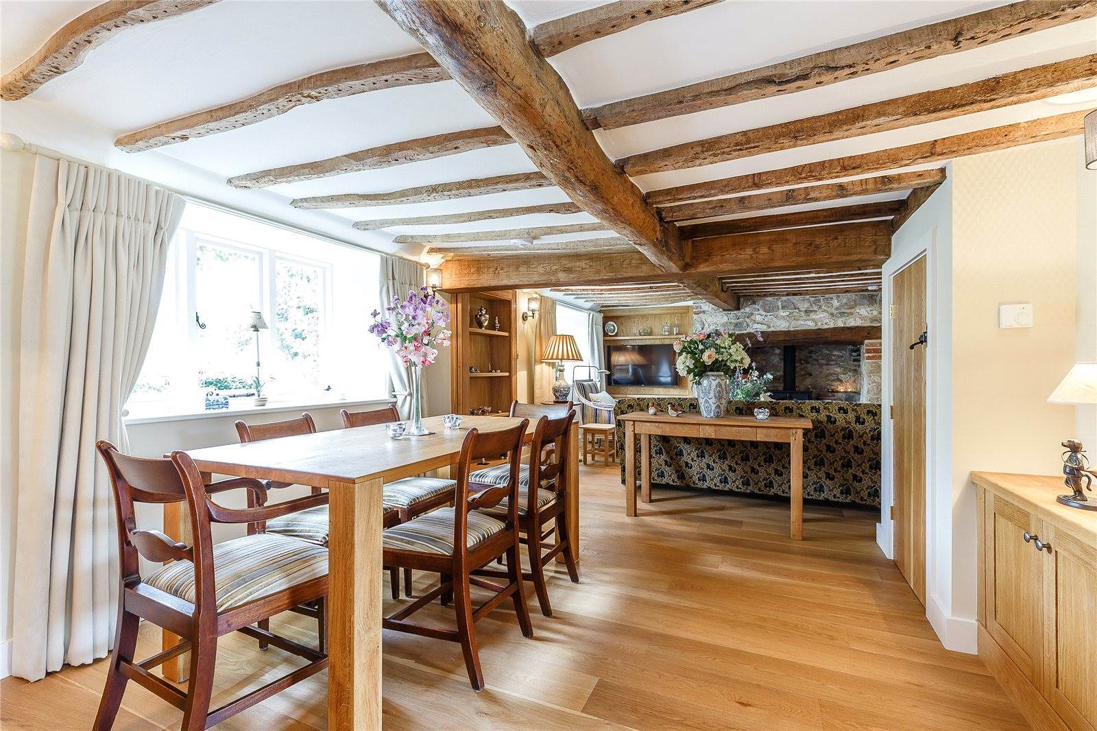 Thatched Cottage Goals Dining Room English Cottage