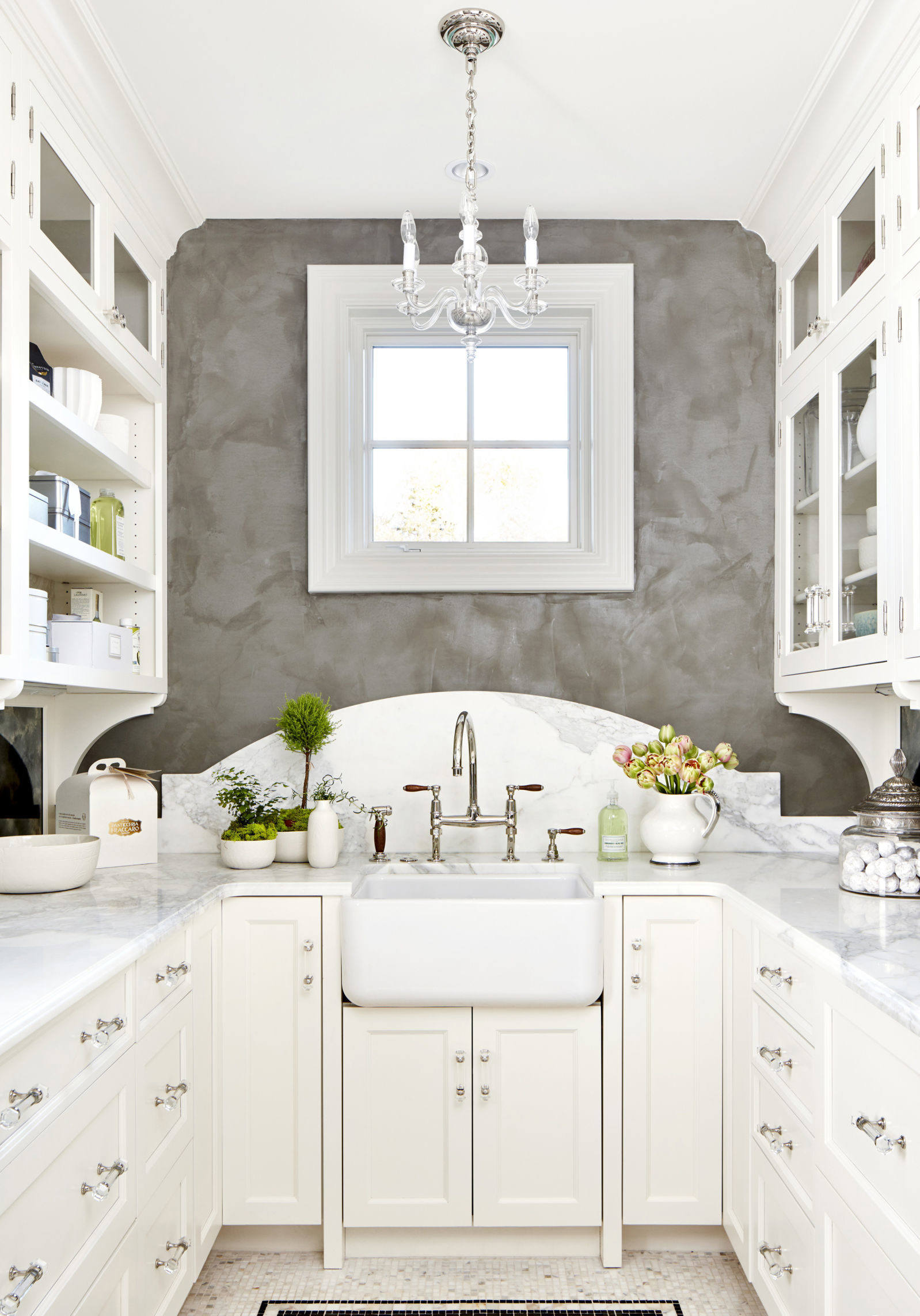white galley kitchen small kitchen ideas - Scene Therapy