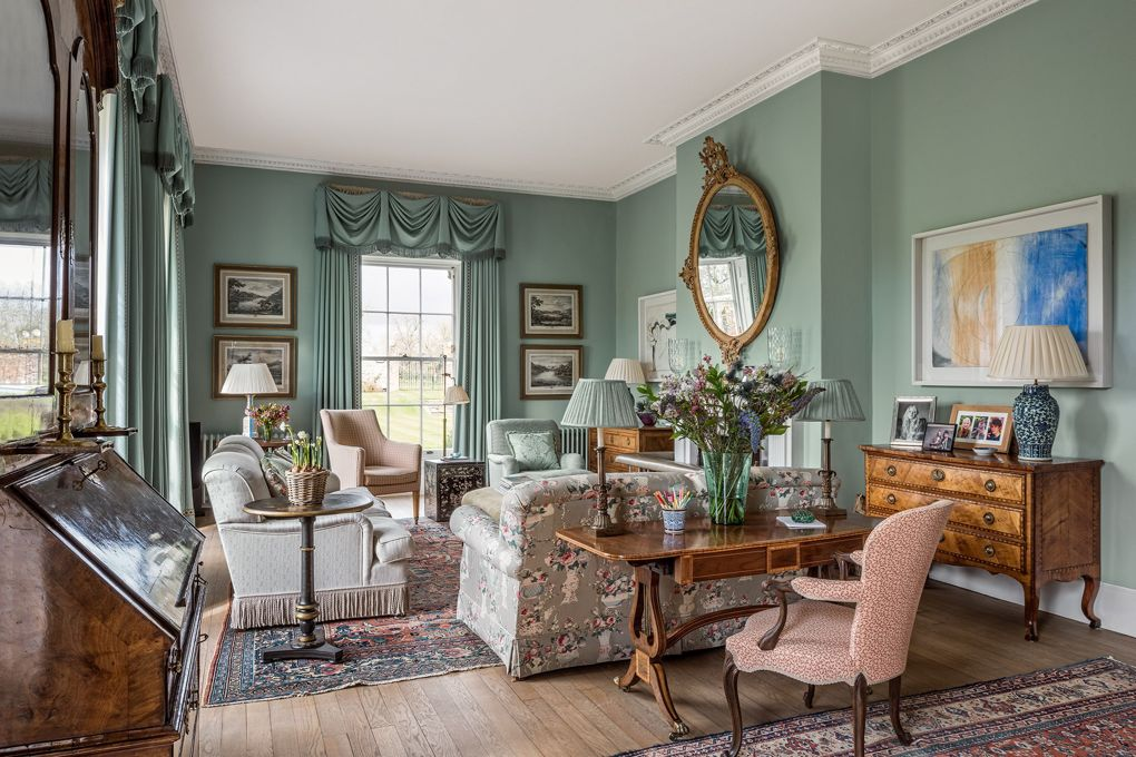 Traditional English Manor House Drawing Room Scene Therapy