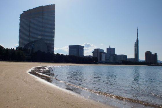 福岡タワー 地行浜より