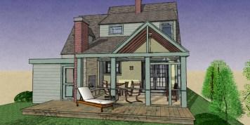 Exterior NO addition Rear Porch 9-28-4