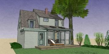 Exterior NO addition Rear Porch 9-8-3