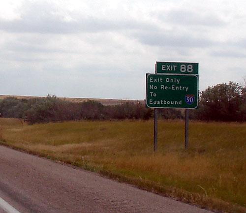 Interstate 90 Exit Information  South Dakota