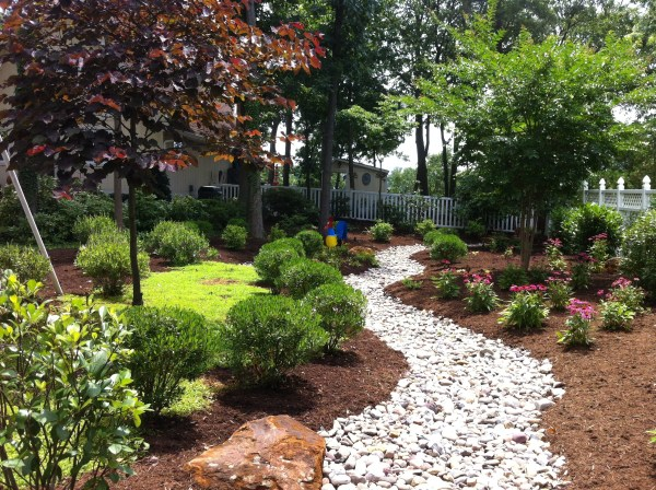 dry creek bed scenic lawns &