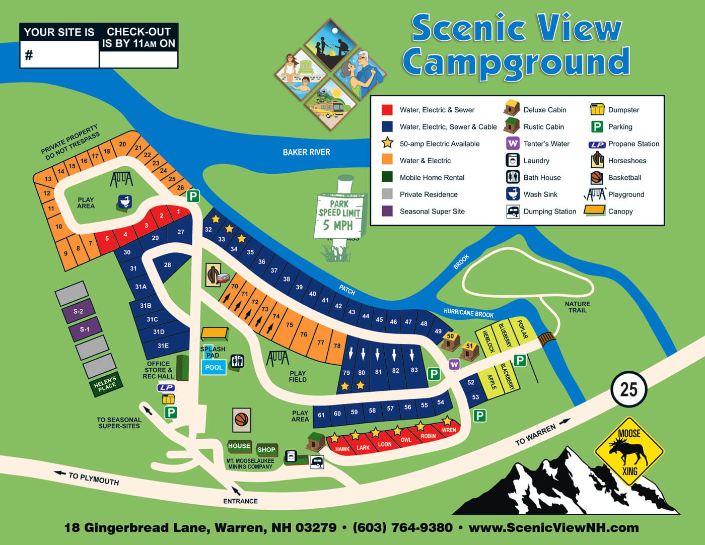 Scenic View Campground Site Map Amp Rules